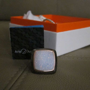 Arte Argento Ring Drusy Druzy Geode Sterling SZ 6